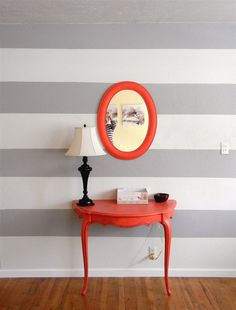 Striped Wall- except mine would be vertical