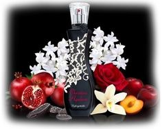 The composition is oriental-floral. Its top notes include fruity accords of pomegranate and plum. Flowers of night blooming jasmine and Turkish rose are placed in the perfume's heart, laid on the base of tonka bean, vanilla and cashmere.  Top notes: pomegranate, plum Heart: night jasmine, Turkish rose Base: tonka bean, vanilla, cashmere