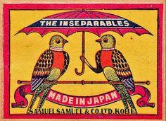 vintage matchbox packaging via the dieline