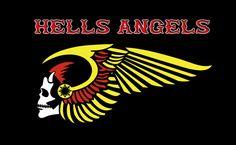 Hells Angels Motrocycle MC Club Flag 90 x 150 cm Polyester #Unbranded