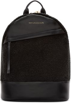 Want Les Essentiels de la Vie - Black Leather Piper Backpack Ebags BackPack Tumblr | leather backpack tumblr | cute backpacks tumblr http://ebagsbackpack.tumblr.com/