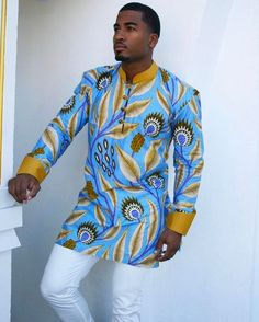 African Men Trending Ideas That Will Blow Your Mind. The post African Men Trending Ideas That Will B African Clothing For Sale, African Shirts For Men, African Dresses Men, African Attire, African Wear, African Fashion Designers, African Inspired Fashion, African Print Fashion, African Fashion Menswear