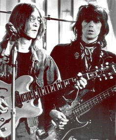 John Lennon & Keith Richards que buen documento