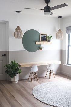 Home Office Design, Home Office Decor, House Design, Home Decor, Home Office Paint Ideas, Design Desk, Office Playroom, Interior Office, Office Setup