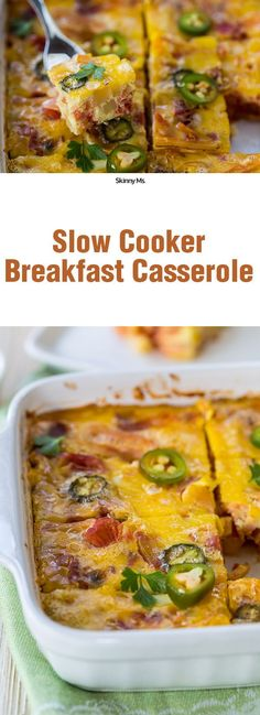 This Slow Cooker Breakfast Casserole is a delicious, Mexican inspired dish. Only 198 calories per serving and 13 grams of protein!