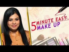 Learn to do make-up in a very simple way! 5 Minute Makeup, Makeup Step By Step, Makeup Tutorial For Beginners, Simple Way, Make Up, Face, Beauty, Women, Style