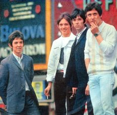 Ronnie Lane, Stave Marriott, Ian ''Mac'' McLagan and Kenney Jones Kenney Jones, Ronnie Lane, Steve Marriott, Faces Band, Steve Winwood, Peter Frampton, Psychedelic Music, 60s Music, Music Magazines