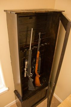 Gun Cabinet made from recycled pallets