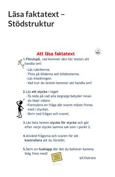 Läsa Faktatext Reading Skills, Guided Reading, Learn Swedish, Swedish Language, Teaching Materials, How To Know, Interior Design Living Room, Design Trends, Back To School