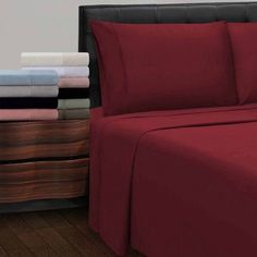 Superior 300 Thread Count 100% Cotton Antimicrobial Sheet Set, Orange