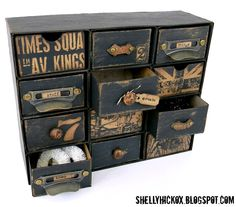 Sizzix: Vintage Embellishment Chest - awesome DIY