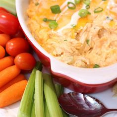 "Healthier Buffalo Chicken Dip | ""This was a delicious dip. You could not tell that the ingredients were low fat!!"""