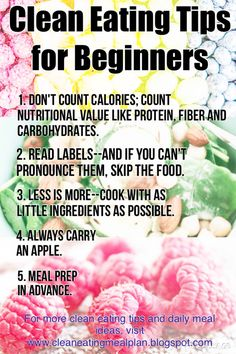 Clean eating tips for beginners. #cleaneating #weightlosshelp