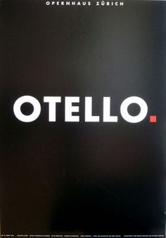 Original Vintage Poster Opera Othello Otello Zurich Modern Shakespeare 1990s Art | eBay