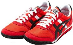Onitsuka Tiger by Asics Unisex Ultimate 81? Fiery Red Sneaker Men's 9, Women's 10.5 Medium