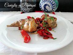 Il coniglio è una carne magra e saporita ed in questo piatto accompagnata dai peperoni è davvero saporita Ricetta secondo di carne La cucina di ASI
