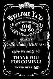for JohnJack Daniels Birthday Invitations Adult by