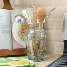 Birch Lane Stockton Recycled Glass Utensil Jar