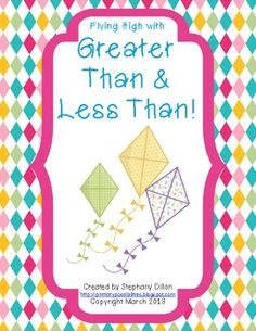 FREEBIE!! Greater Than and Less Than Spring Freebie