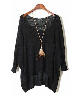 Silence   Noise Split-Back Pullover Sweater | Shopping ...