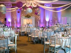 {Purple, Magenta & Silver} Country Club Wedding|Photographer:  Crozier Photography