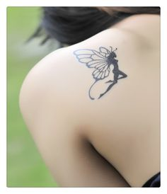 stickers retail on sale at reasonable prices, buy Hot-selling tattoo stickers classic butterfly fairy tattoo stickers waterproof female Tattoo sticker from mobile site on Aliexpress Now! Small Fairy Tattoos, Tattoos For Women Small, Small Tattoos, Tasteful Tattoos, Hot Tattoos, Pretty Tattoos, Beautiful Tattoos, Tatoos, Fairy Sleeve Tattoo