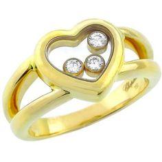 Chopard 0.15ct Floating Diamond Heart Ring