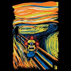 The Bee Boo Bee Boo Minion - Edvard Munch Scream Parody