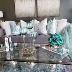 This is day 1 of Coffee Table week. Swipe left to see all pics. You can shop my home by clicking the link in my bio for table books, agate coasters florals and more. Teal Living Rooms, Living Room Turquoise, New Living Room, Home And Living, Living Room Designs, Living Room Decor, Affordable Modern Furniture, Affordable Home Decor, Home Decor Store