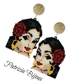 Bead Embroidery Jewelry, Beaded Bracelet Patterns, Beaded Embroidery, Beading Patterns, Earring Tutorial, Beaded Brooch, Beaded Earrings, Peyote Stitch Patterns, Seed Beads