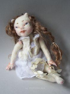 pixie art doll by FELTOOHLALA