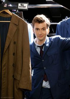 Quintessence of Dust • David Tennant in amongst his costumes as the Tenth...