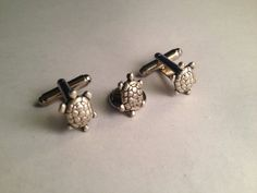 Men's Awesome Pair of Silver Metal Tiny Turtles by Lynx2Cuffs, $26.99