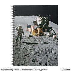 moon landing apollo 15 lunar module nasa 1971 spiral notebook
