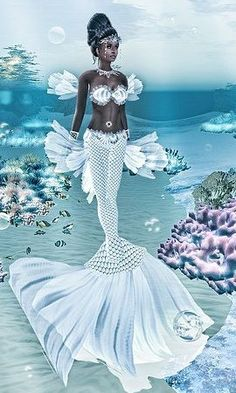 Black mermaid princess