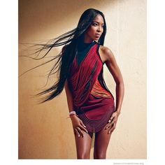 Naomi Campbell Stuns in Jewel Tones for Bazaar Latin America Cover... ❤ liked on Polyvore featuring models