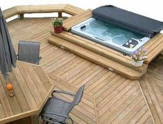 ideas for small backyards with jacuzzi | SerenityWood Decks
