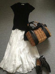 "Japanese basket -kago bag <3 ~lisa. ""籐のバスケット""(C)エバゴス ***please don't remove copyright credits"