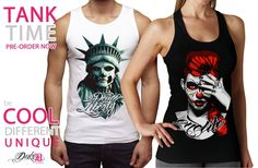 Tank Tops Designs: - Death or Liberty - Onelife Liberty, Tank Man, Death, Tank Tops, Unique, Clothing, T Shirt, Design, Women