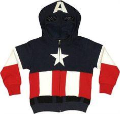 Captain America Costume Toddler Hoodie