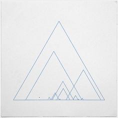 #390 Grand ridge – A new minimal geometric composition each day
