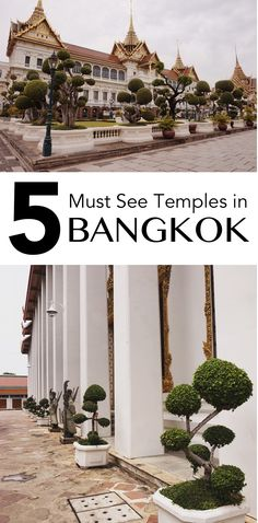 Backpacking around South East Asia? Need inspiration for where to go in Thailand? Don't miss these 5 must see Temples in Bangkok!