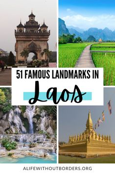 50 Famous Landmarks in Laos. From historic temples and UNESCO sites, to waterfalls, mountains and national parks, discover incredible Laos landmarks for your bucket list. #Laos #landmarks #luangprabang #bucketlist #laositinerary Luang Namtha, Luang Prabang, Laos Travel, Vientiane, Natural Park, Famous Landmarks, Nature Reserve, Waterfalls, Temples