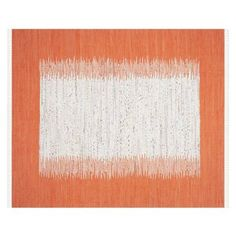 Check out this item at One Kings Lane! Cay Rug, Ivory/Orange