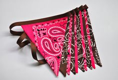 Cowgirl Pink & brown bandana banner bunting by GiddyGumdrops, $28.00, but in teal & brown