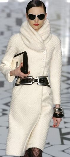 Valentino-LOVE IT! I think it would look gorgeous in an egg shell blue colour. With Tanned Boots and Wooded accessories.