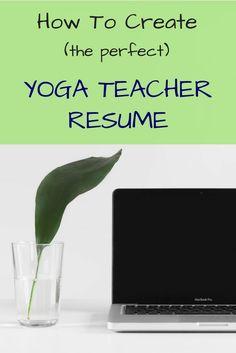 How To Create A Yoga Resume | How To Make A Yoga Teacher Resume | Yoga Teacher Resume