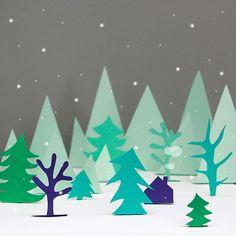 Winter landscape gif - Studio Äppel Päppel