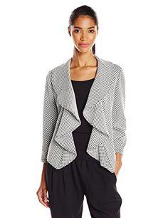 Calvin Klein Women's Long Sleeve Front Ruffle Suit Jacket