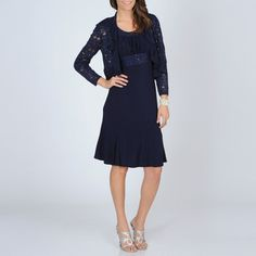@Overstock - Add a fashionable flair to your wardrobe with this two-piece evening dress from R Richards. An open-front jacket with a ruffle collar and fully lined dress completes this evening dress.http://www.overstock.com/Clothing-Shoes/R-M-Richards-Womens-2-piece-Evening-Dress/7492350/product.html?CID=214117 $81.99